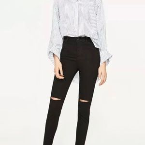 Zara Black MidRise Skinny Denim